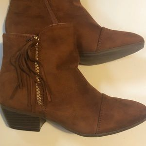 Fringe Faux Suede Booties